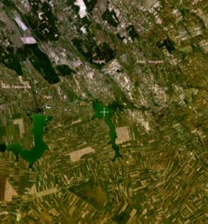 Ludaš Lake - Satellite view