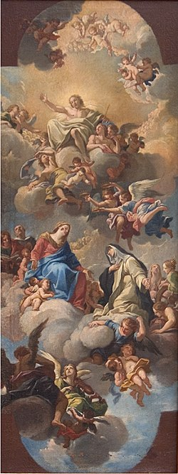 Luigi Garzi - Mary Introducing St Catherine of Siena to Christ - KMSsp829 - Statens Museum for Kunst.jpg