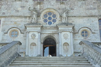 Lulworth Castle - The entrance to the castle.