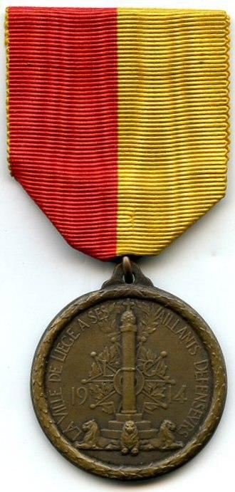 Liège Medal - Image: Médaille de Liège avers