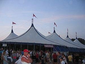 """Langelandsfestivalen - """"Møllers"""" tent at Langelandsfestivalen 2006"""