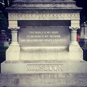 Martin Mathias Secor - M. M. Secor gravestone