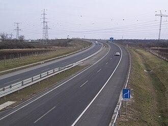 M43 motorway (Hungary) - Image: M43 Szeged Észak közelében