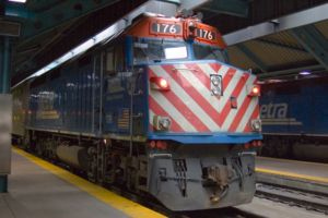 Transportation in Chicago - Metra train at Ogilvie Transportation Center