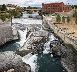 Spokane Falls - The Monroe Street Dam and the Lower Spokane Falls, 2013