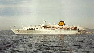 SS Guglielmo Marconi - Costa Riviera at sea in 2001.