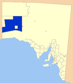 Maralinga Tjarutja - Location of the Maralinga Tjarutja Council
