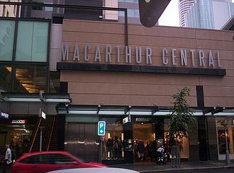 MacArthur Central - Edward Street façade