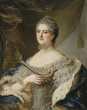 Élisabeth Alexandrine de Bourbon - Image: Mademoiselle de Sens wearing Fleur de lis by a member of the school of Nattier