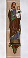 Madfeld, St. Margaretha männlicher Heiliger mit Jesuskind auf dem Arm.JPG