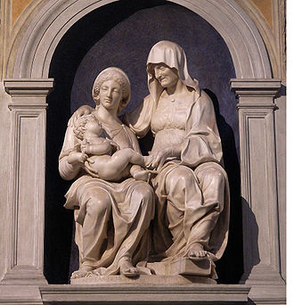 The Prophet Isaiah (Raphael) - Image: Madonna with Child and Anna by Andrea Sansovino