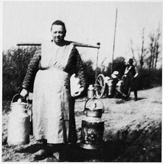 Milkmaid - A Danish milk maid with shoulder yoke