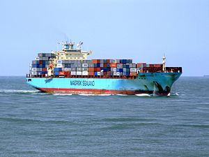 Maersk Gateshead p11 approaching Port of Rotterdam, Holland 08-Jul-2007.jpg