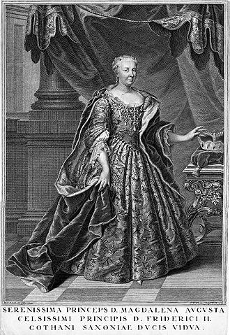Princess Magdalena Augusta of Anhalt-Zerbst - Image: Magdalena Augusta von Sachsen Gotha Altenburg