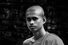"Mahanama Thero, who has been disciplined by the school of Theravada Buddhist traditions, hasn't still completed the age of 22. The Thero was born, In the beautiful remote village of ""Bibiladeniya"".JPG"