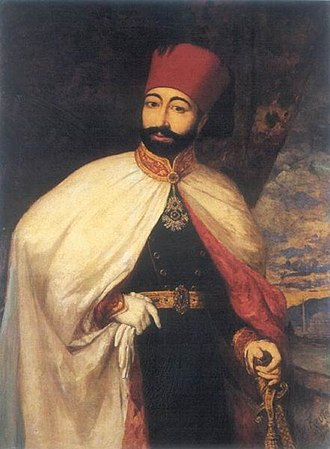Fez - Portrait of the Ottoman Sultan Mahmud II after his clothing reforms.