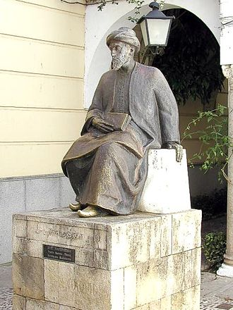Jews as the chosen people - Monument to Maimonides in Córdoba, Spain