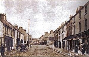 Clara, County Offaly - Main Street Clara c. 1915