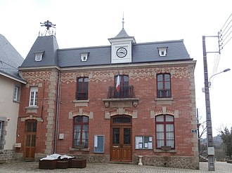 Bussière-Dunoise - The town hall in Bussière-Dunoise
