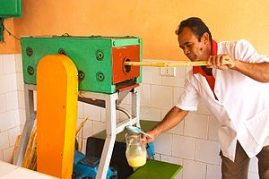 Sugarcane juice - A machine used to extract sugar cane juice