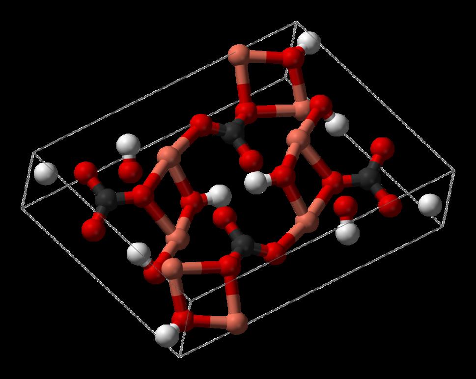 Malachite-unit-cell-3D-balls