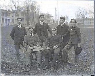 Cultural assimilation of Native Americans - Male Carlisle School Students 1879.
