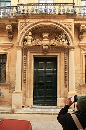 Banca Giuratale (Mdina) - Main entrance to the Banca Giuratale