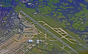 Manchester Airport, England from the air.jpg