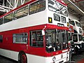 Manchester Corporation bus 1001 (HVM 901F), Museum of Transport in Manchester, 4 October 2008.jpg