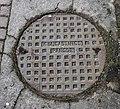 Manhole cover, Newtownards - geograph.org.uk - 1803553.jpg