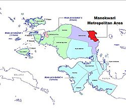 Map of Manokwari Metro Area