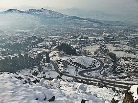 Mansehra after winter snowfall