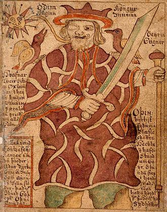 Icelandic Manuscript, SÁM 66 - Image: Manuscript Odinn
