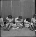 Manzanar Relocation Center, Manzanar, California. An elementary school has been established with ev . . . - NARA - 537960.tif