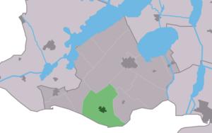 Oudemirdum - Image: Map NL Gaasterlân Sleat Aldemardum