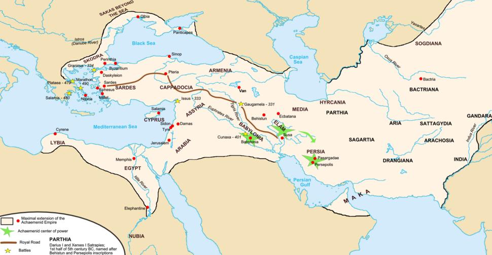Map achaemenid empire en