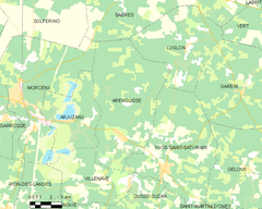 Map commune FR insee code 40006.png