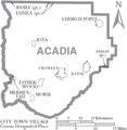 Map of Acadia Parish Louisiana With Municipal Labels.PNG