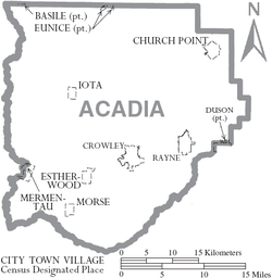 Map of Acadia Parish Louisiana With Municipal Labels.PNG