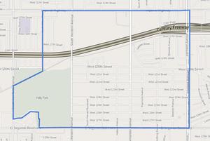 Athens, California - Image: Map of Athens neighborhood, Los Angeles County, California