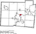 Map of Butler County Ohio Highlighting New Miami Village.png