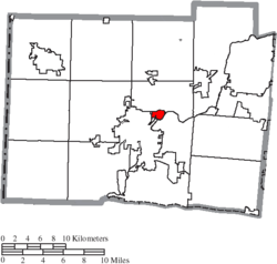 Location of New Miami in Butler County