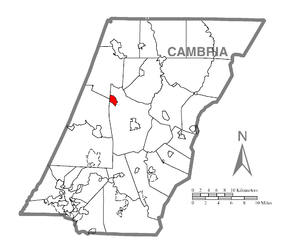 Map of Colver, Cambria County, Pennsylvania Highlighted.png