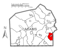 Map of Conewago Township, Adams County, Pennsylvania Highlighted.png