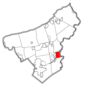 Map of Easton, Northampton County, Pennsylvania Highlighted.PNG