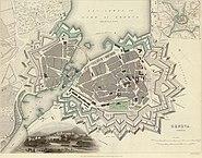 Map of Geneva in 1841