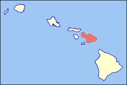 Map of Hawaii highlighting Maui.svg