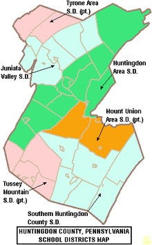 Juniata Campus Map.Huntingdon Area School District Wikipedia