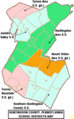 Map of Huntingdon County Pennsylvania School Districts.png