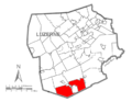 Map of Luzerne County, Pennsylvania Highlighting Hazle Township.PNG